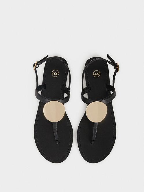 Sandálias rasas pormenor metálico - PARFOIS - 17€