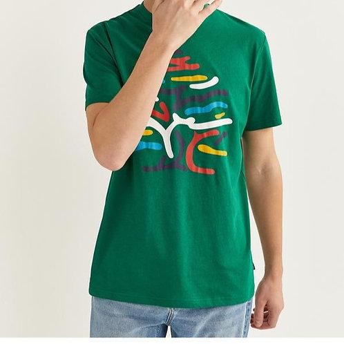 T-shirt manga curta árvore - Springfield - 10€