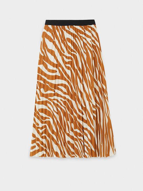 Saia plissada estampada com cintura elástica - PARFOIS - 16€