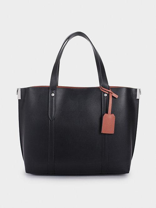 Mala shopper com alça a tiracolo removível detalhe - PARFOIS - 35€