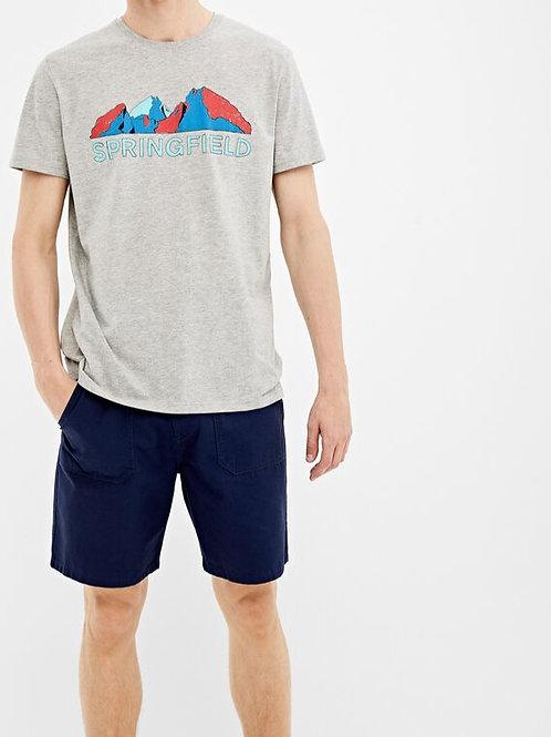 T-shirt montanha - Springfield - 12€