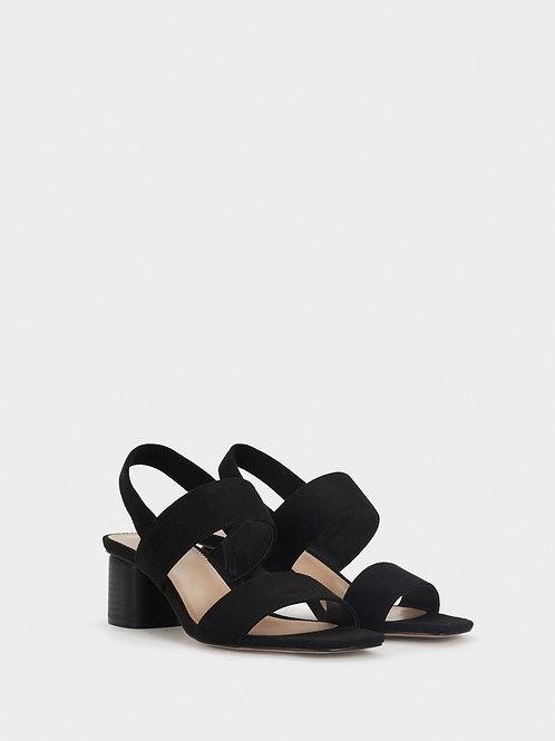 Sandálias de tacão médio de tiras com elástico  - PARFOIS - 24€