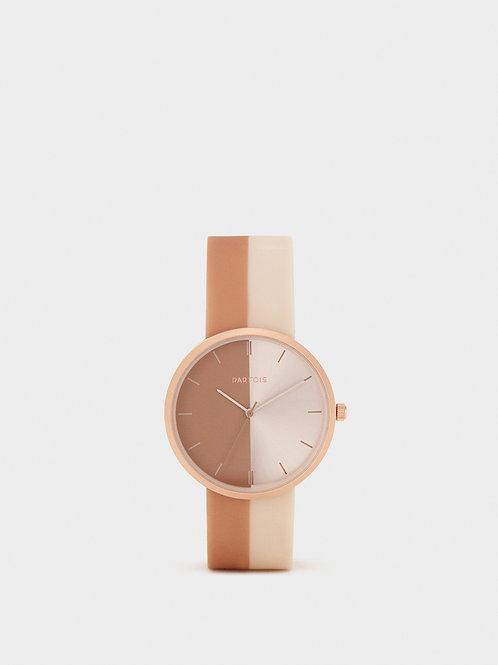 Relógio com bracelete bicolor - PARFOIS - 30€