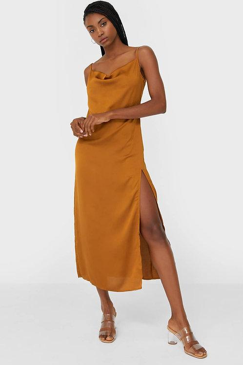 Vestido midi rendado - STRADIVARIUS - 20€