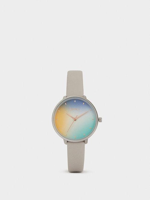 Relógio correia textura pele esfera multicor - PARFOIS - 25€