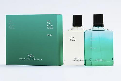 Perfume Zara - MAN SILVER + MAN SILVER WINTER 100 ML - 28€