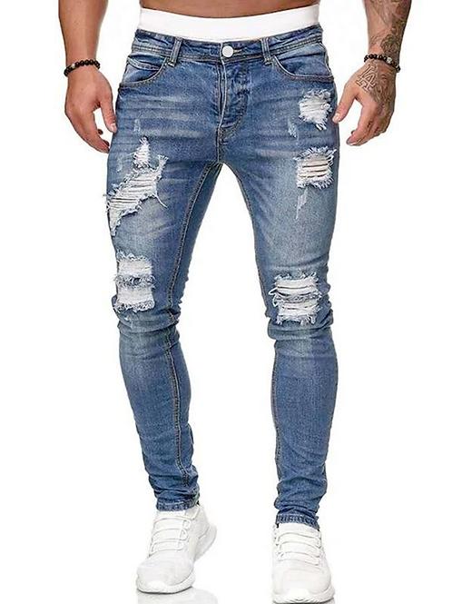 Ocasional Jeans Rasgada Masculino - 40€