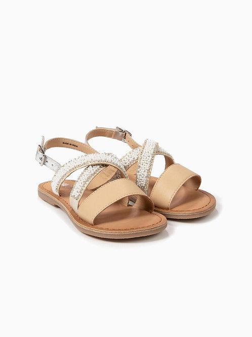 Sandálias de pele com missangas - ZIPPY - 16€