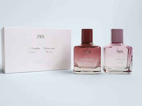 Perfume Zara - PINK FLAMBÉ WINTER 100 ML+TUBEROSE WINTER 100ML - 28€