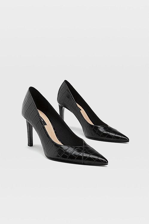 Sapatos tacão gravados - STRADIVARIUS - 30€