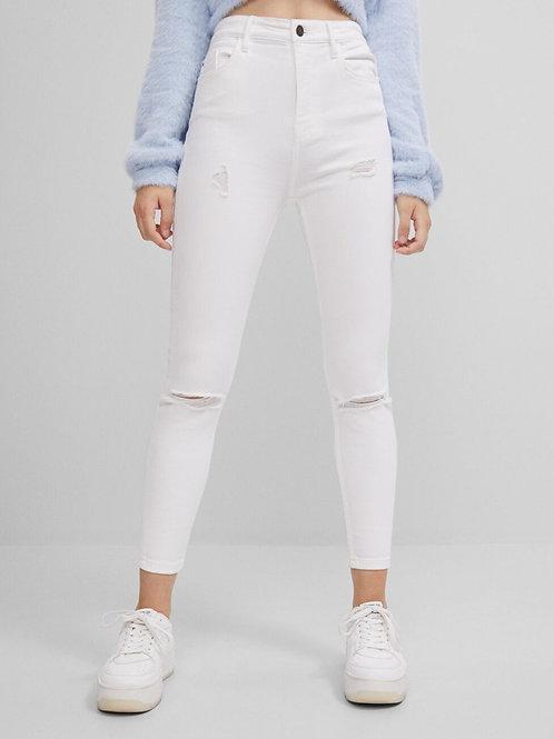 Calças super high waist - BERSHKA - 20€