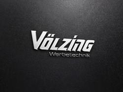 Silver realistic logo mockup