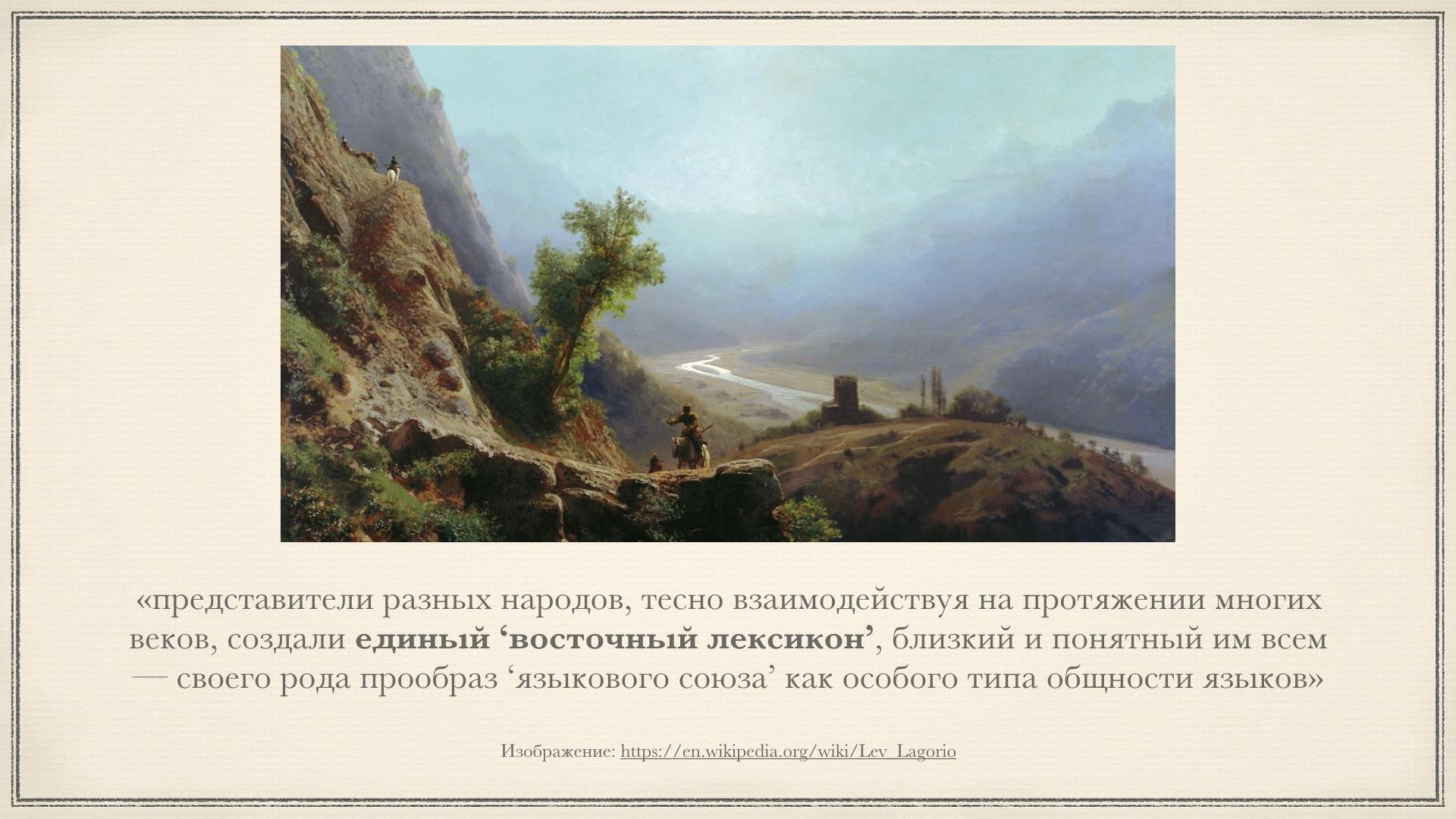 Восточная лексика Лермонтова