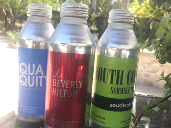 NEW! Custom-Branded Aluminum Bottled Drinking Water, low minimum orders