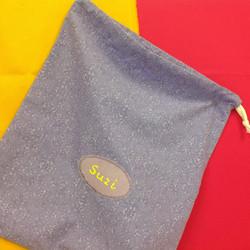 My drawstring bag sampler