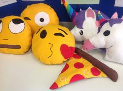 Emoji cushions by Yr8s