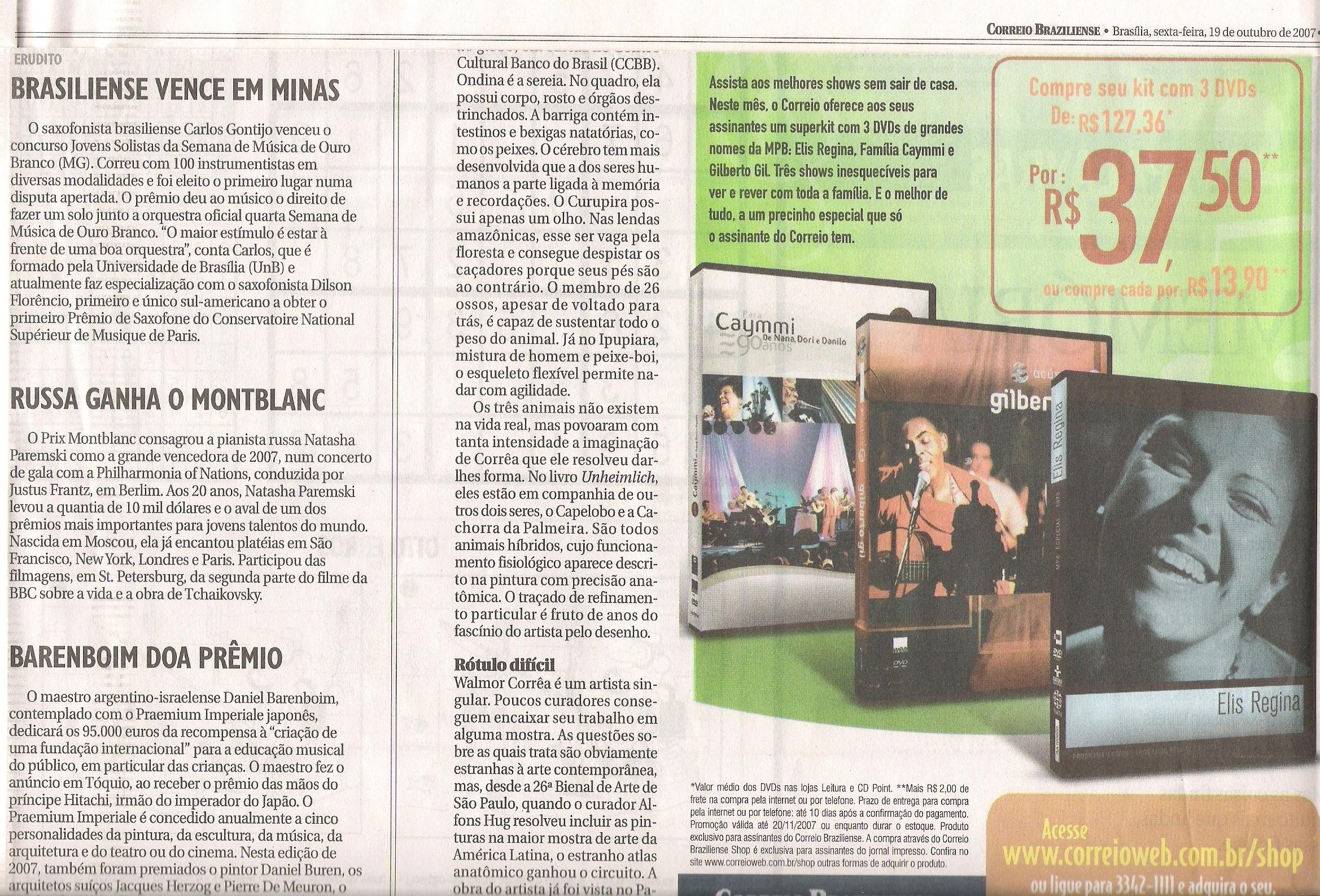 Jornal Correio Braziliense out/2007