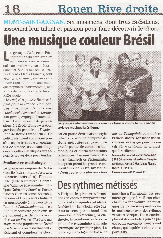 Jornal Paris-Normandie - Nov/2009