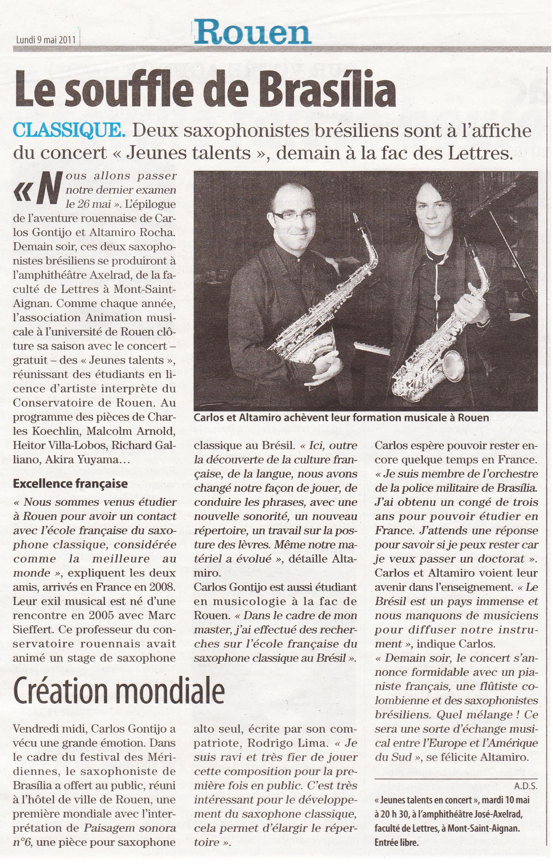 Jornal Paris-Normandie - maio/2011