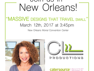 "Cynthia Lopell ""Massive Designs that Travel Small"" Educational Session at Catersource 2017"
