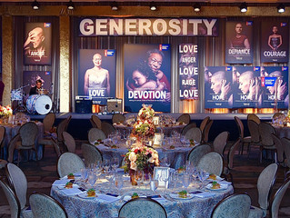 CL22 Productions created a stage design for the Giants of Science Event hosted by American Cancer So