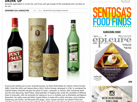 In The Media: Vermouth Appreciation - Drink Up