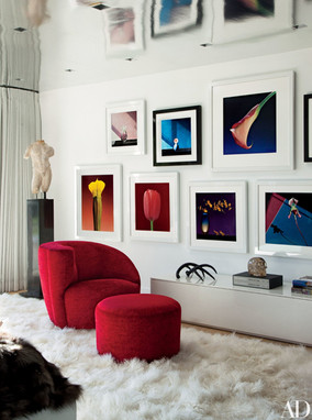 The home of Sir Elton John and David Furnish decorated with Robert Mapplethorpe fine art photographs.