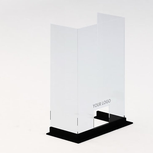 "Custom Triple Side Protective Barrier- WOOD BASE (52"" width)"