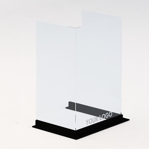 "Custom Triple Side Protective Barrier- WOOD BASE (40"" width)"