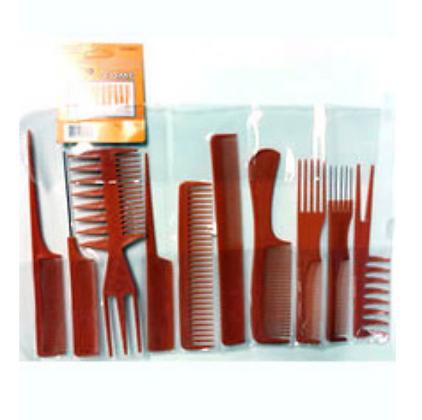 Magic Collection - 10pcs Comb Set (Brown)