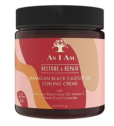 As I Am Jamaican Black Castor Oil Curling Creme 8 oz