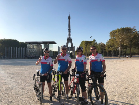 Team Brean raise over £8000 in charity Bristol to Paris bike ride