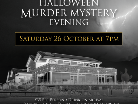 Join us at Brean Country Club for an evening of HalloweenMurder Mystery!
