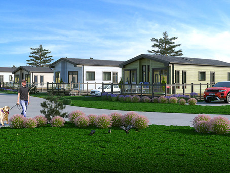Holiday Lodge Show Homes arrive at Brean Country Club's New Lodge Development