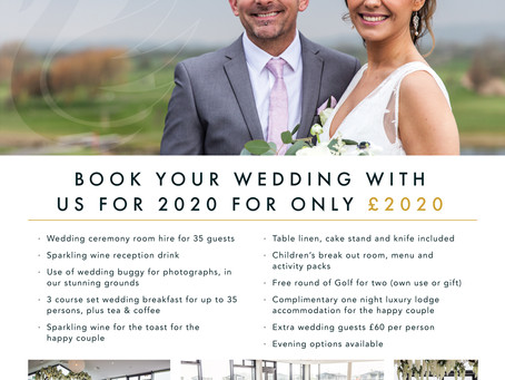 2020 Wedding Offer for £2020 now available