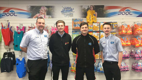 Brean Splash team raise £750 for charity by growing moustaches for Movember