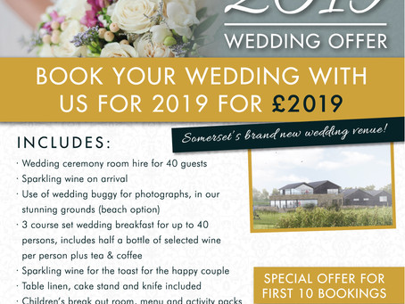 The launch of our 2019 wedding offer