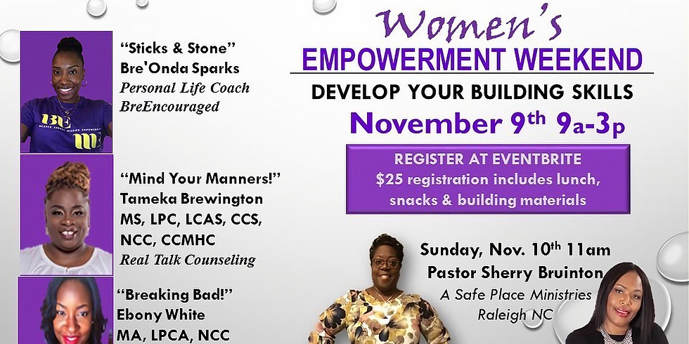 Develop Your Building Skills Women's Empowerment Weekend