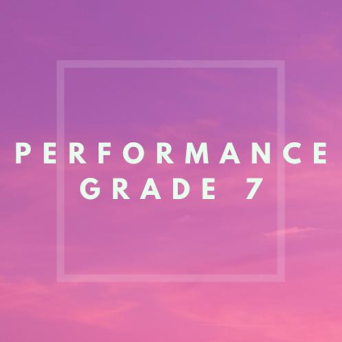 Performance Grade 7