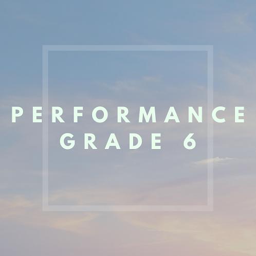 Performance Grade 6