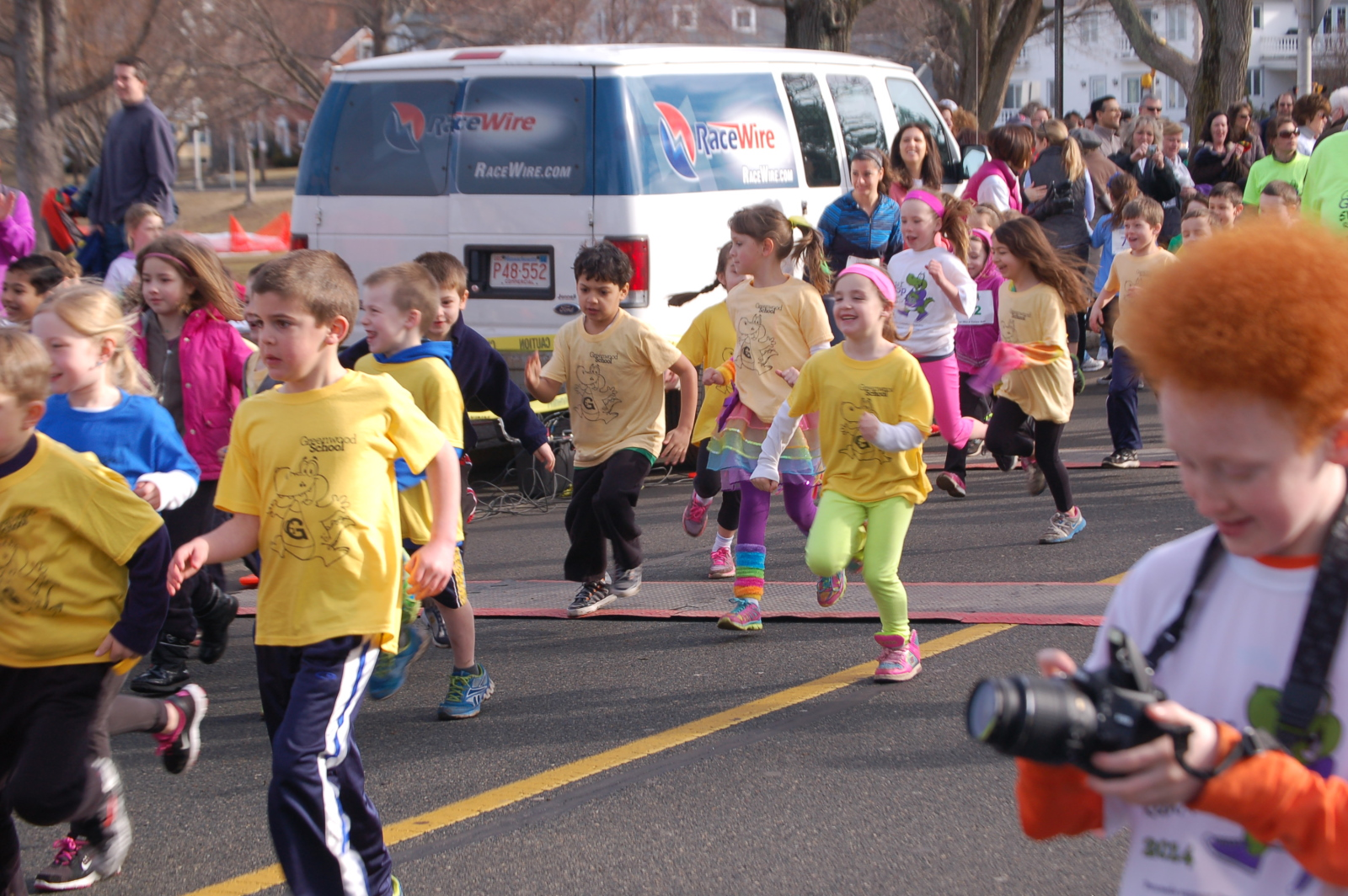 First-graders run the mile!