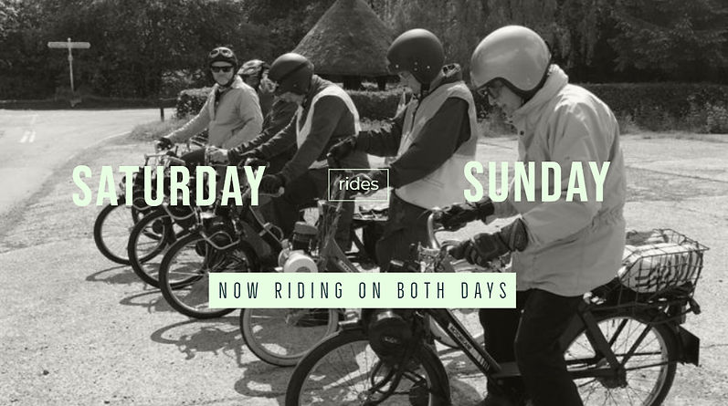 RIDES ON SATURDAY AND SUNDAY