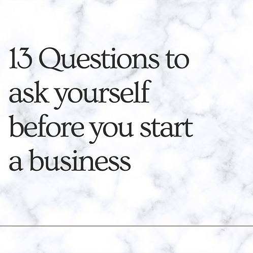 Are you ready to start a business? 13 Questions before you start