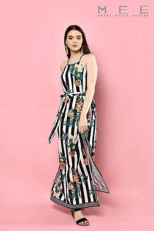 Maxi Vestido Rayas Tropical