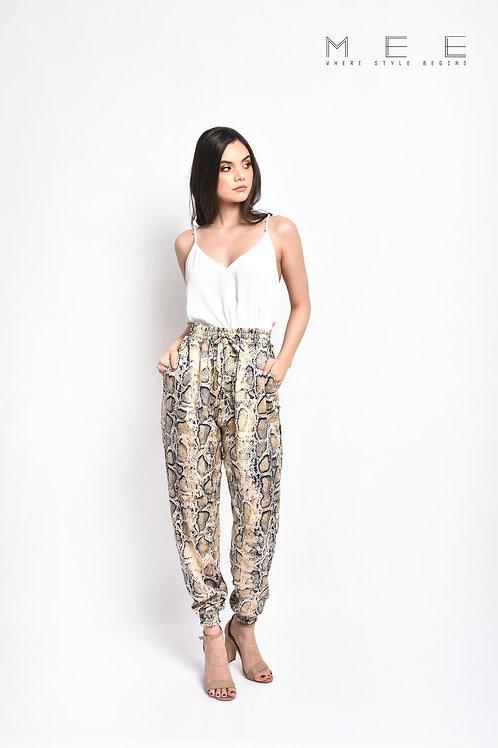Pantalon snake Print