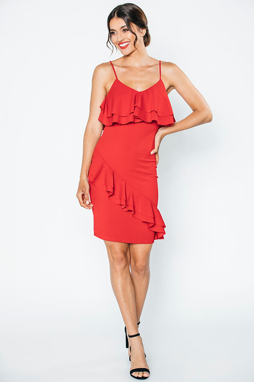 Ruffles Red Dress