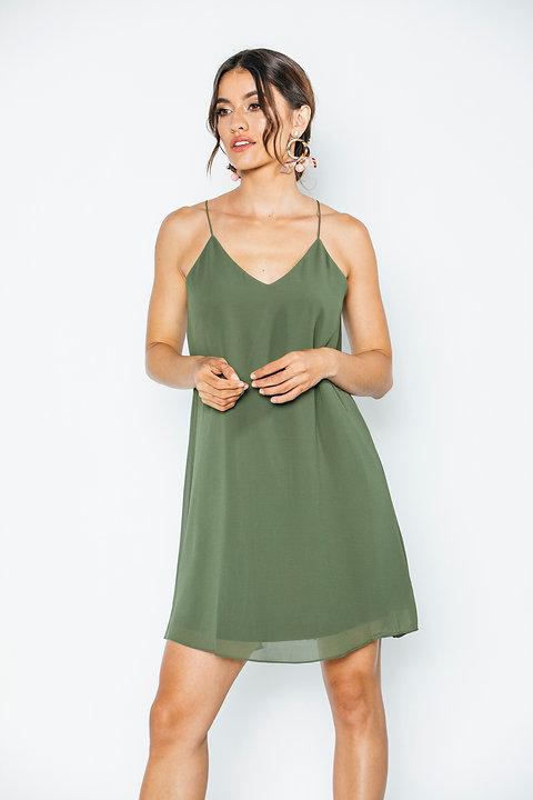 Vestido Verde Olivo