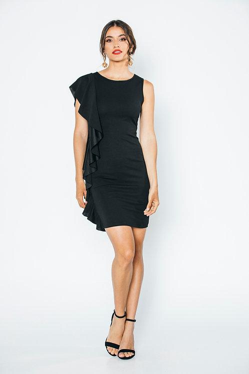 vestido negro Olanes Costado