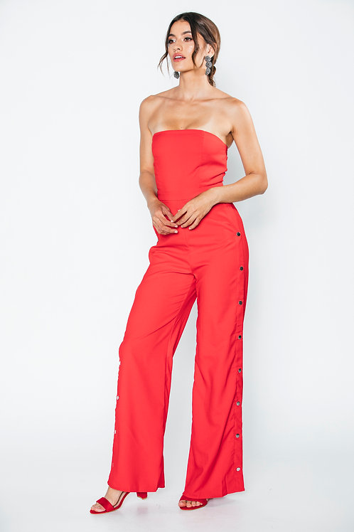 Jumsuit  Rojo Broches