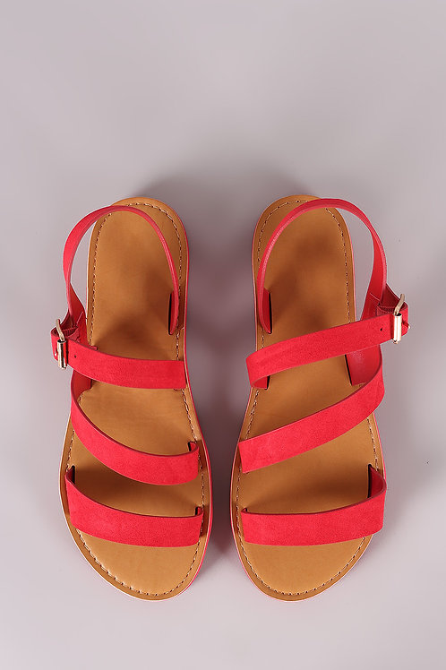 Sandalias  Flats Color Rojo